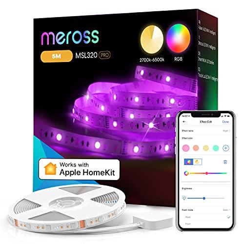 Meross Smart LED Streifen 5m mit Farbwechsel und Appsteurung Alexa, & Google