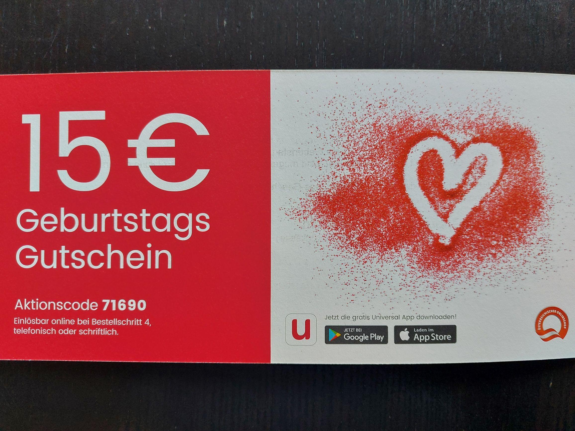 Universal   -15€ Gutschein