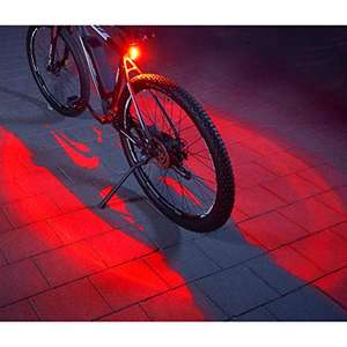 FISCHER Twin Fahrrad-Rücklicht mit 360° Bodenleuchte