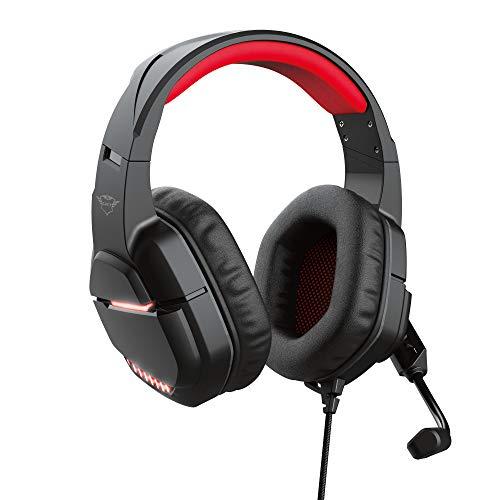 Trust Gaming Headset für PC GXT 448 Nixxo - Kabelgebundene Gaming-Kopfhörer schwarz