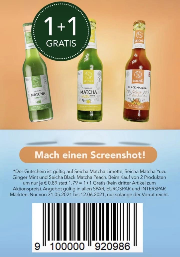 [Spar Coupon] Seicha Matcha diverse Sorten -0,89€