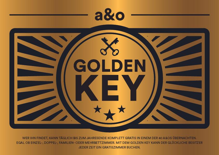 """""""Golden Key"""" unter Matratzen finden & damit bis Jahresende GRATIS bei """"a&o Hostels"""" übernachten"""
