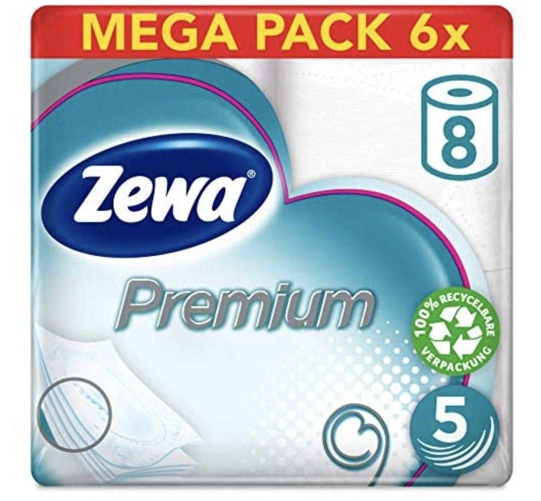 Zewa Toilettenpapier 5-lagig (6 x 8 Rollen)