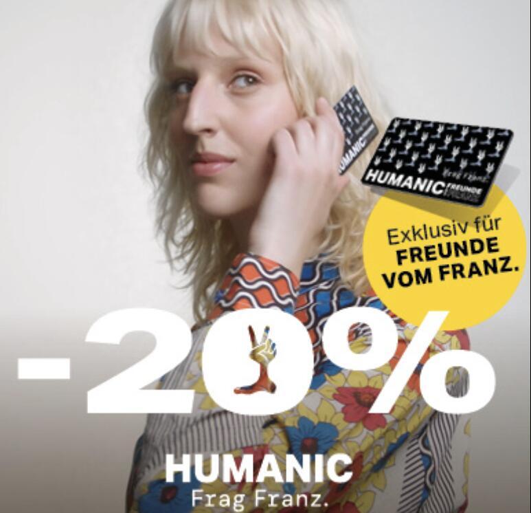 Humanic: 20% Rabatt auf ALLES für alle Club-Mitlgieder