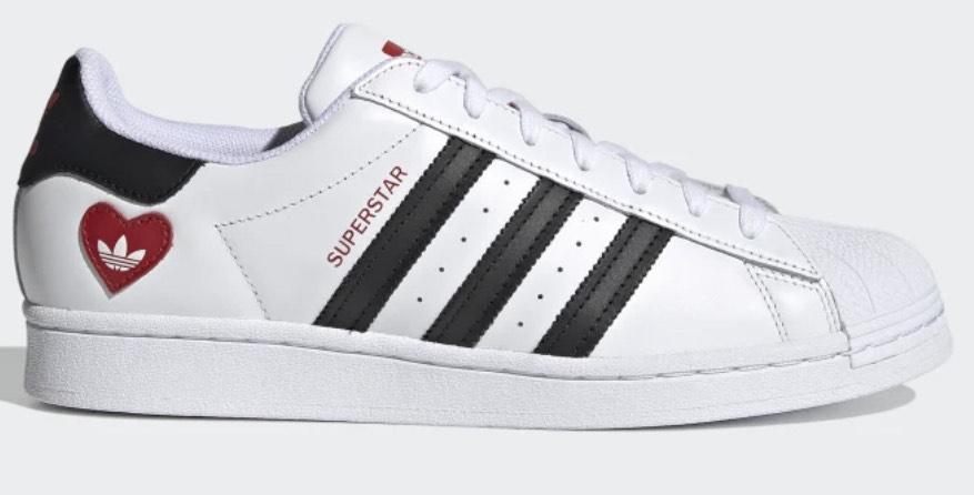 Adidas SUPERSTAR SCHUH Cloud White / Core Black / Scarlet