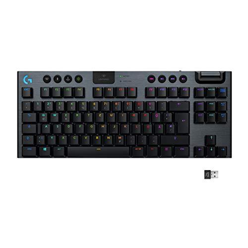 Logitech G915 LIGHTSPEED TKL Tenkeyless kabellose mechanische Gaming-Tastatur,
