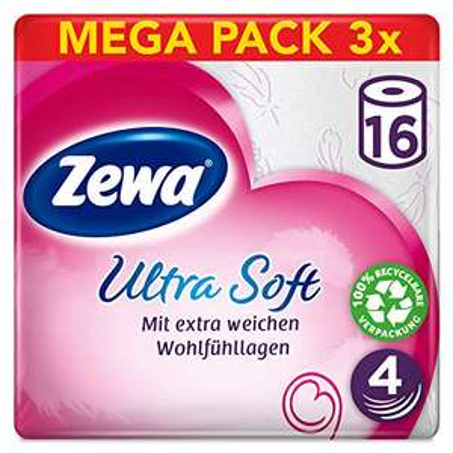 Zewa ultra soft Toilettenpapier 3x16Rollen