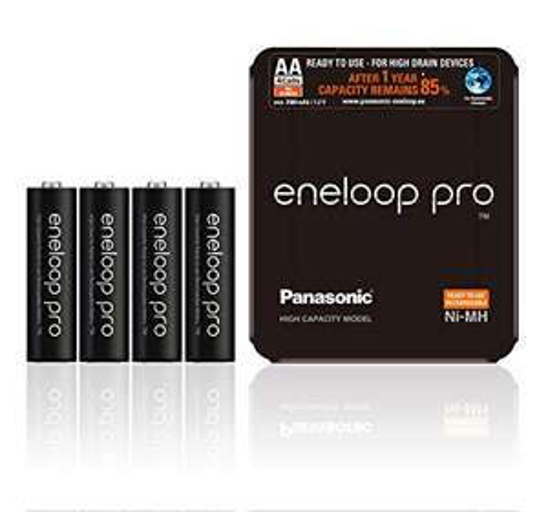 Panasonic eneloop pro (Gen 3) Storage Case Mignon AA NiMH 2500mAh, 4er-Pack