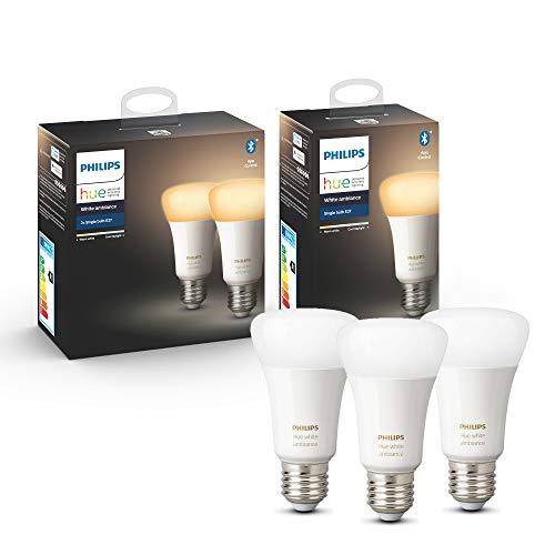 3x Philips Hue White Ambiance E27 LED