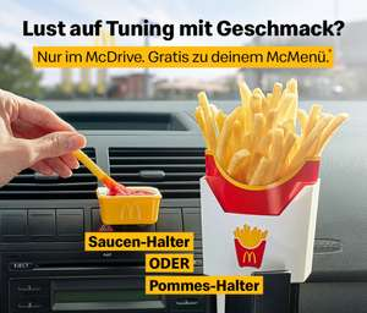 McDonald's Pommes- oder Saucenhalter gratis zum Menü