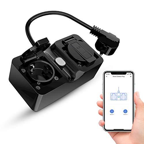 Refoss 2er-Outdoor Wlan-Steckdose, kompatibel mit Alexa, Google Home und IFTTT