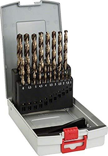 Bosch Professional 19tlg. Metallbohrer-Set HSS-Cobalt ProBox (für Edelstahl, Zubehör Bohrschrauber)