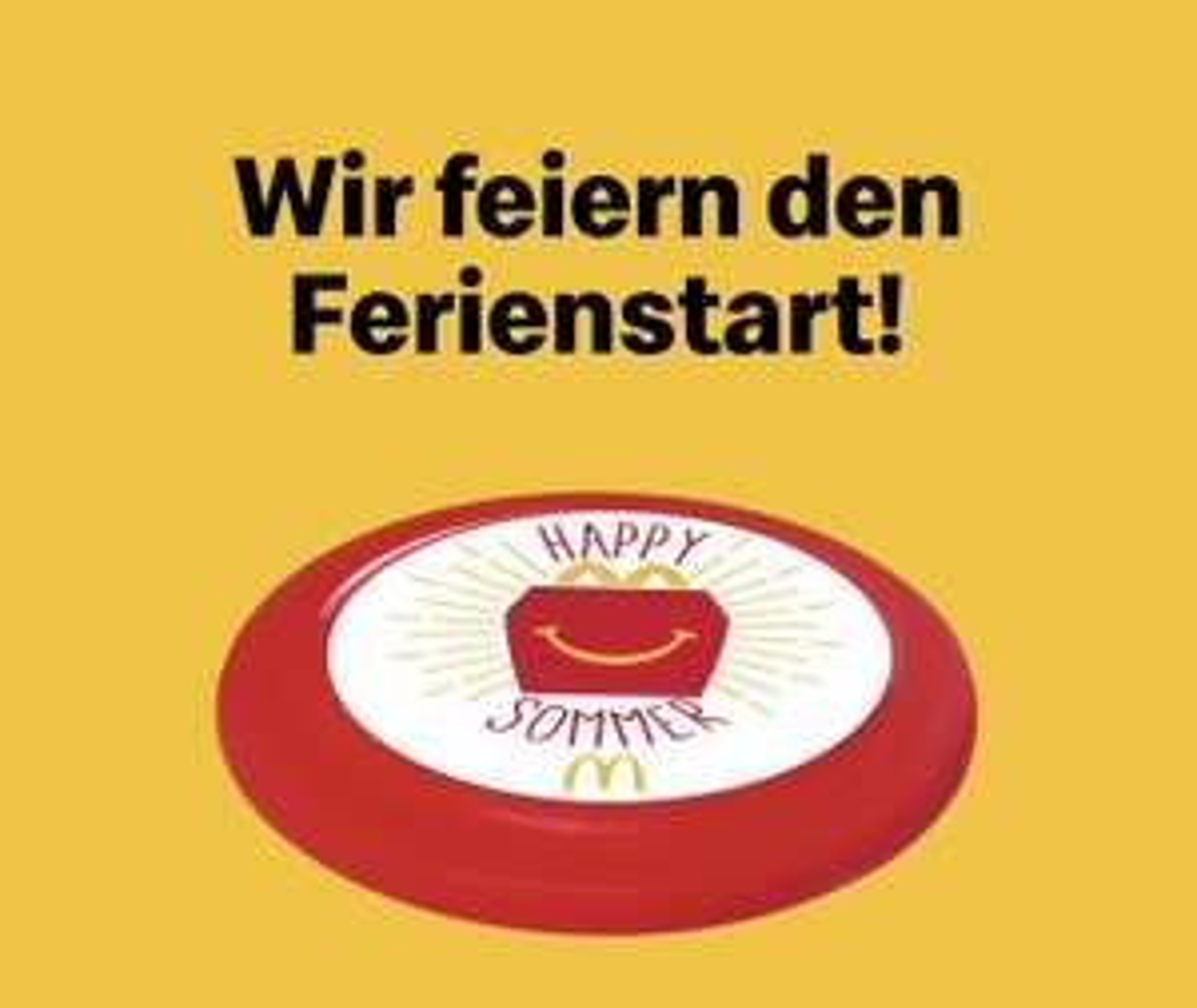McDonald's: Gratis Frisbee zu jedem Happy Meal Menü am 3./10.7.2021