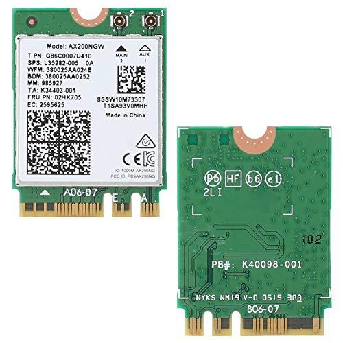 Intel Wi-Fi 6 AX200 ohne vPro, 2.4GHz/5GHz WLAN, Bluetooth 5.2, M.2/A-E-Key