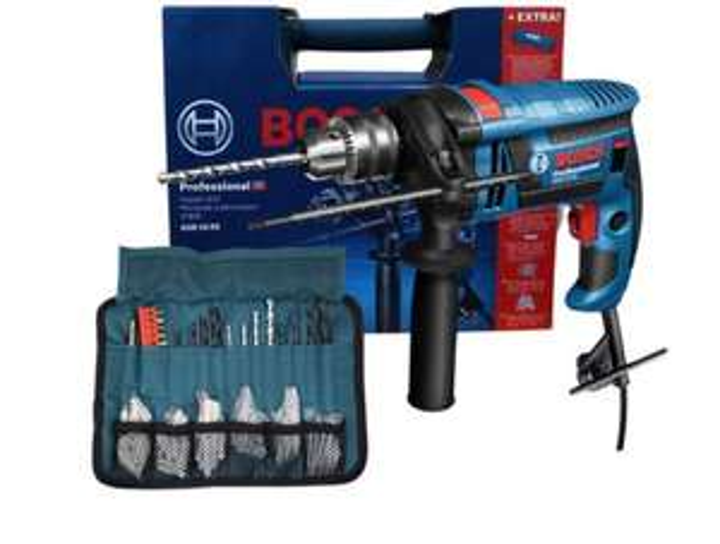 Bosch Professional GSB 16 RE Schlagbohrmaschine mit Koffer und viel Zubehör