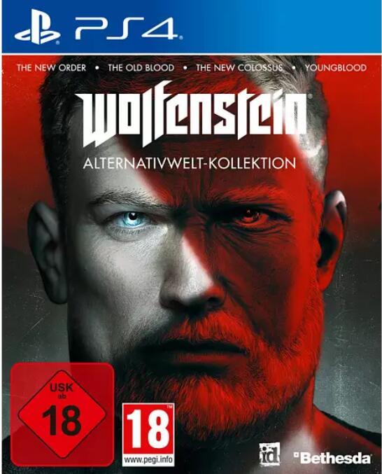 """Wolfenstein Alternativwelt-Kollektion"" (PS4 / XBOX One) zum PJ B.J. Preis"