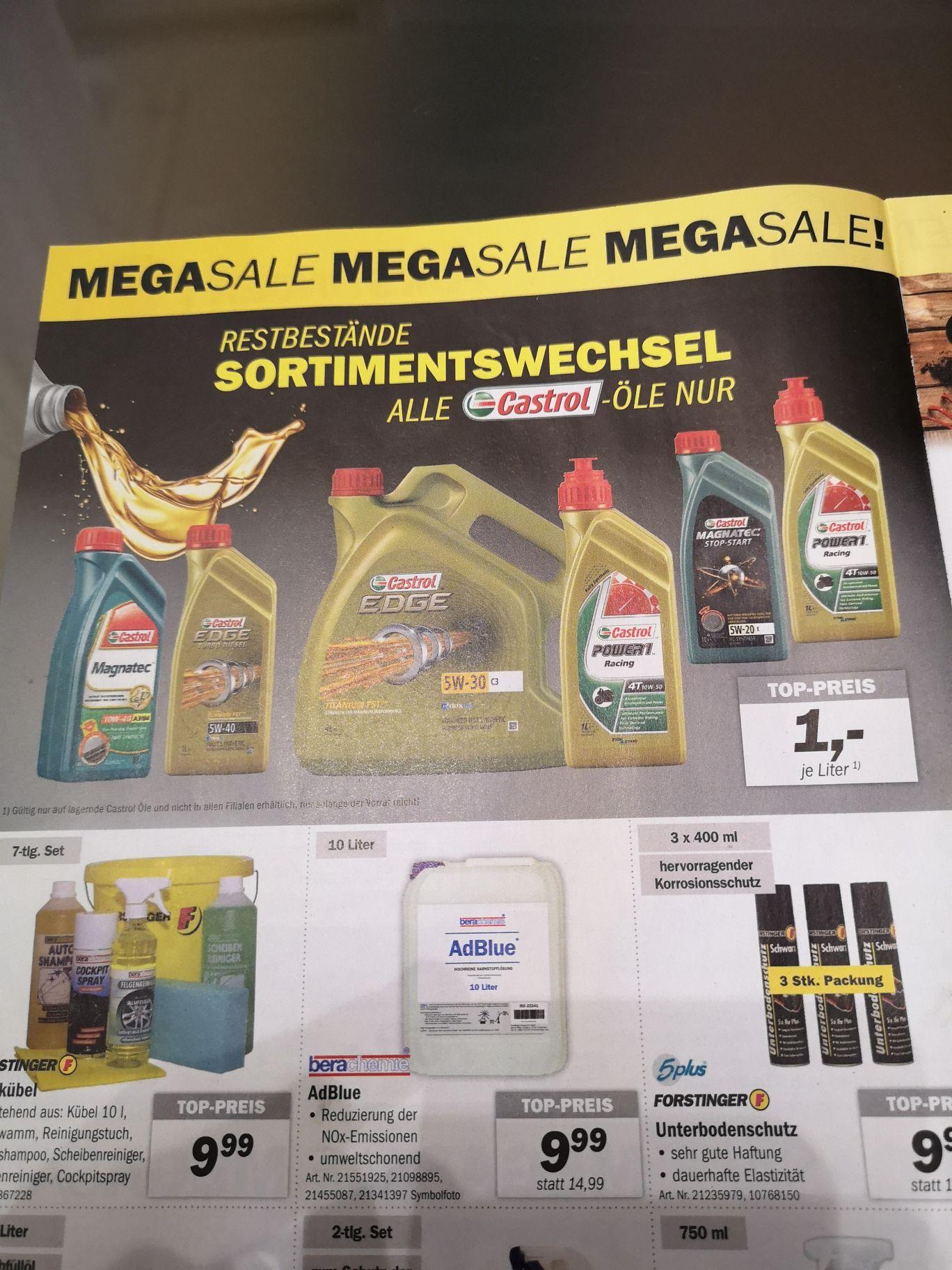 [Forstinger] 1€/Liter auf alle lagernden Castrol Öle