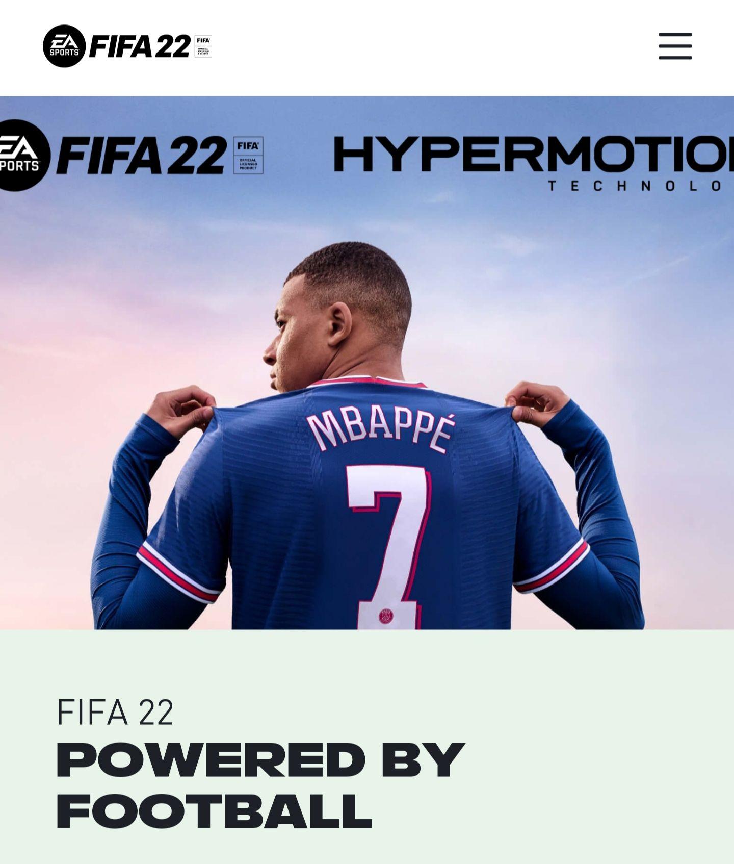 Fifa 22 jetzt vorbestellbar, für PC, PS4 & PS5, XBOX, Stadia. Erhältlich ab dem 27.9/1.10