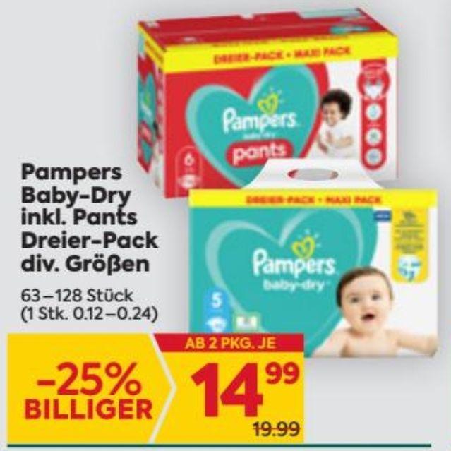 Billa Plus - Pampers Baby Dry Windeln/ Pants