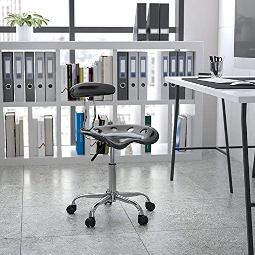 Arbeitshocker mit Rückenlehne – Ergonomischer Schreibtischstuhl höhenverstellbar – Bürostuhl mit Traktorsitz für Home Office