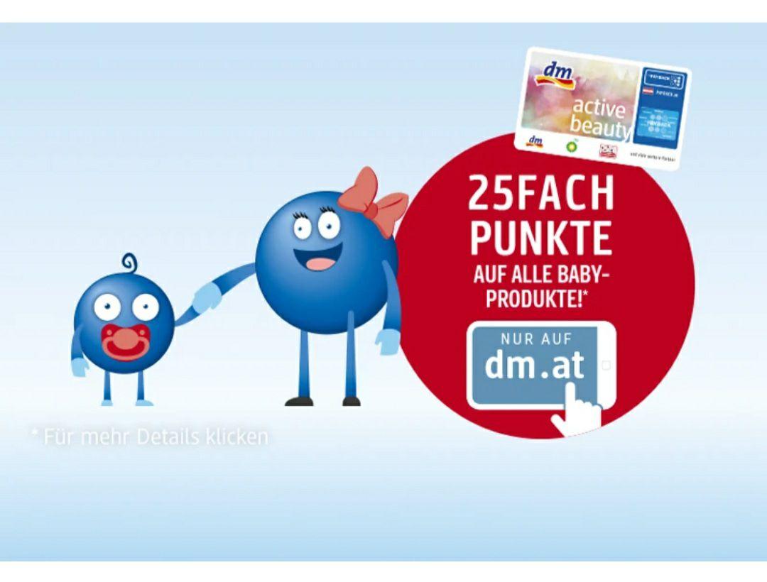 25-FACH Punkte auf Baby- und Kleinkindersortiment 19.7.-31.07. im DM Onlineshop
