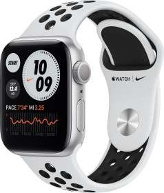 Apple Watch Nike Series 6, 40mm, silber mit Sportarmband weiß