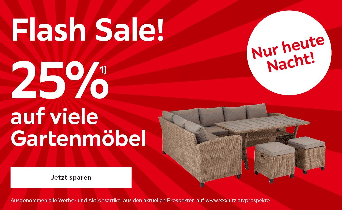 XXXLutz: 25% auf viele Gartenmöbel