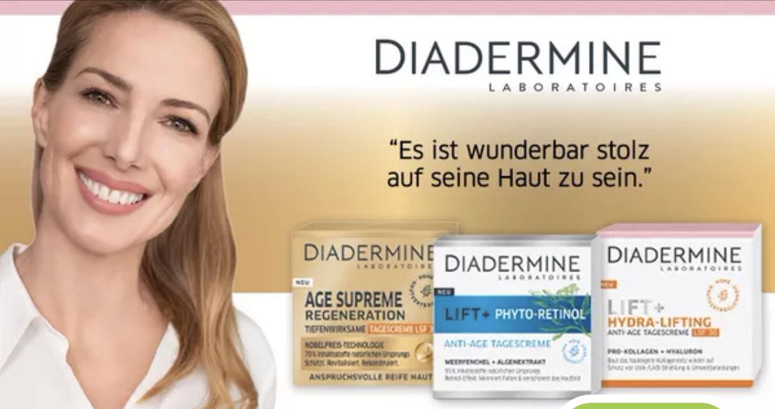 Marktguru: 100% Cashback auf ein Diadermine Produkt (max. 15€)