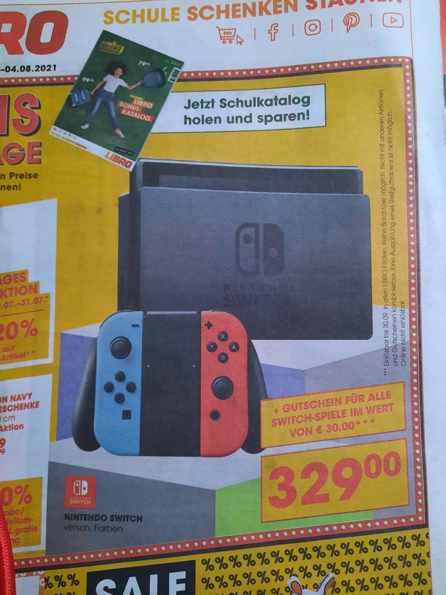 LIBRO - Nintendo Switch inkl. 30Eur SpielGutschein