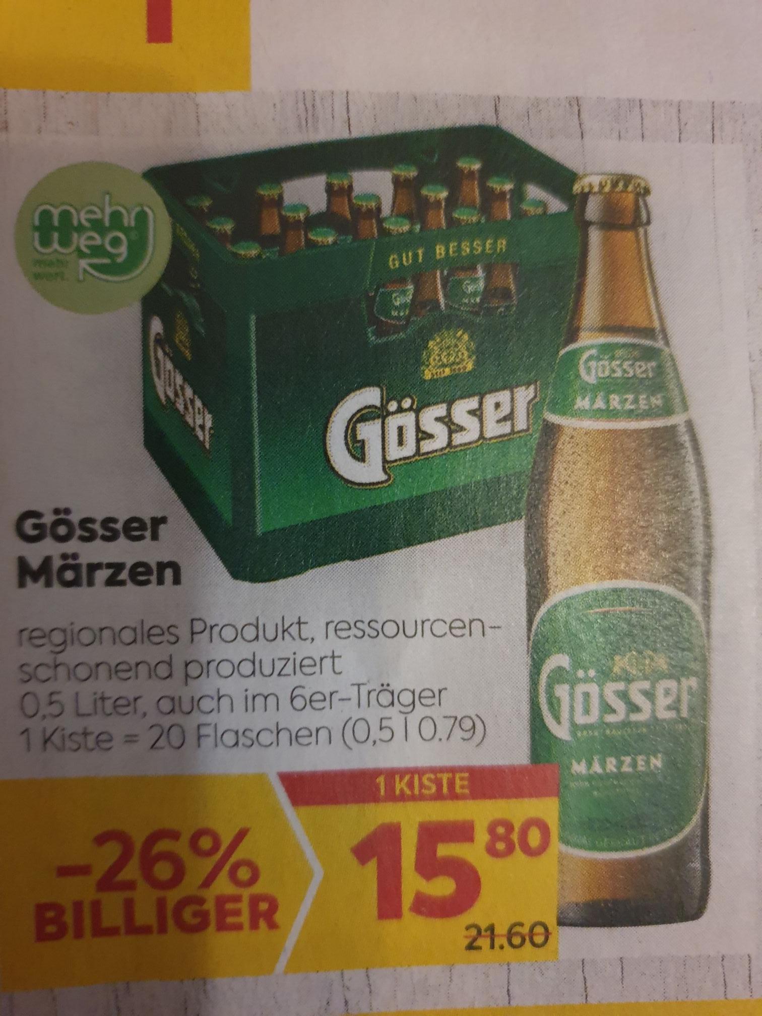 Gösser Kiste mit -25% Sticker um € 11.85 beim BILLA/PLUS 29.07. bis 04.08.