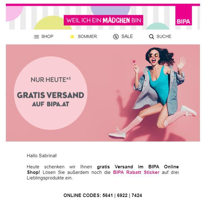 ️ Heute Gratis Versand im BIPA Online Shop & 25% Rabattsticker