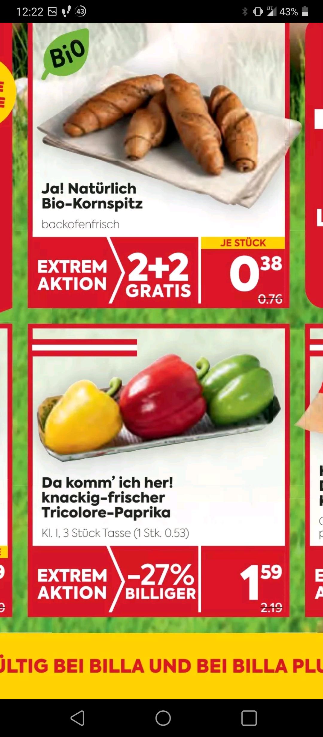 Tricolore Paprika bei Billa