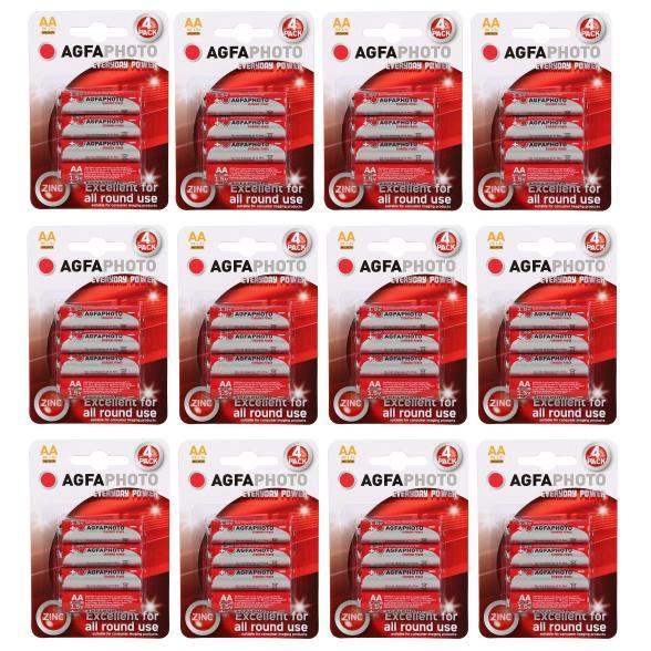 1.2.3 TV – 10,00 € Gutschein ohne Mindestbestellwert (+ 6.95€ Versand) z.B.: 48x AGFA AA Batterien für 6,95 €