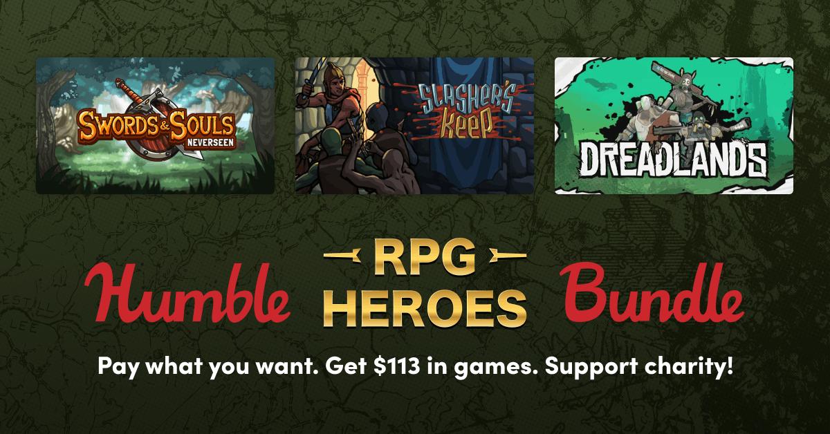 """""""Humble RPG Heroes Bundle"""" (PC) Delver um 1€ statt VGP 13,83€ - Komplettes Bundle um 8,48€ (statt VGP 49,86) Quest Hunter, Slashers Keep, .."""