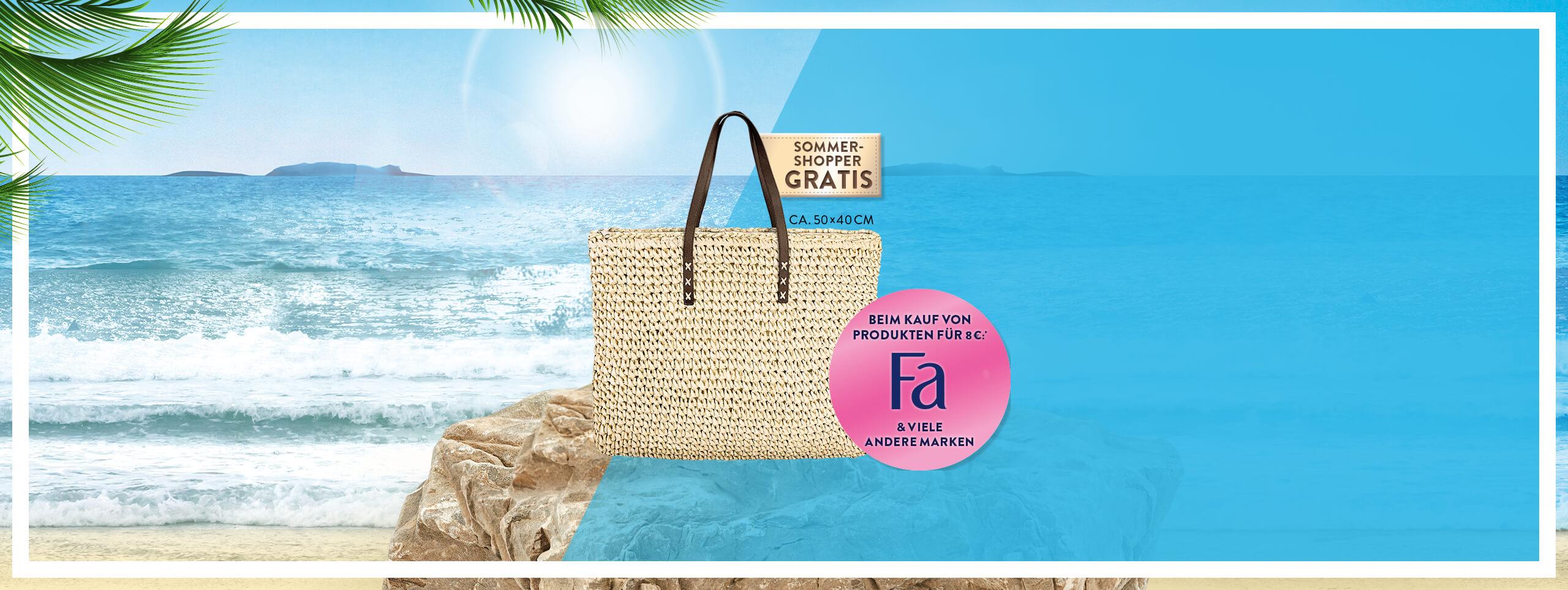 Produkte kaufen - GRATIS Tasche erhalten