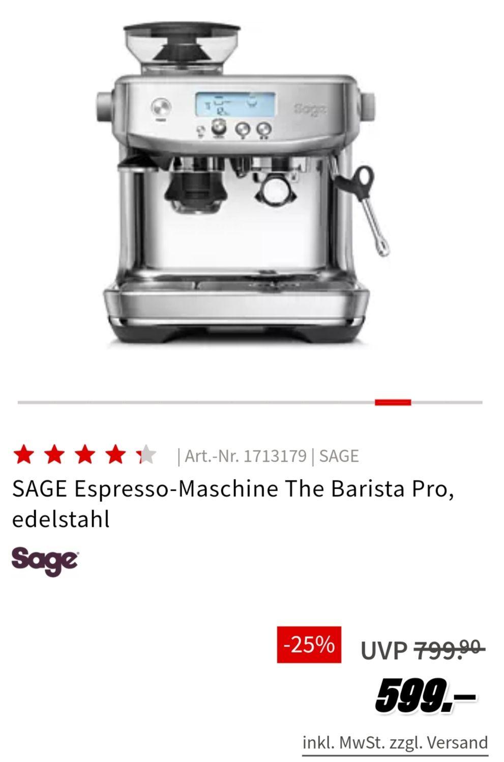 Sage Barista Pro bei Media Markt