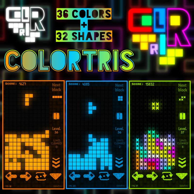 """ColorTris"" TETRIS derzeit gratis via ""itch.to"" & ""Android"""
