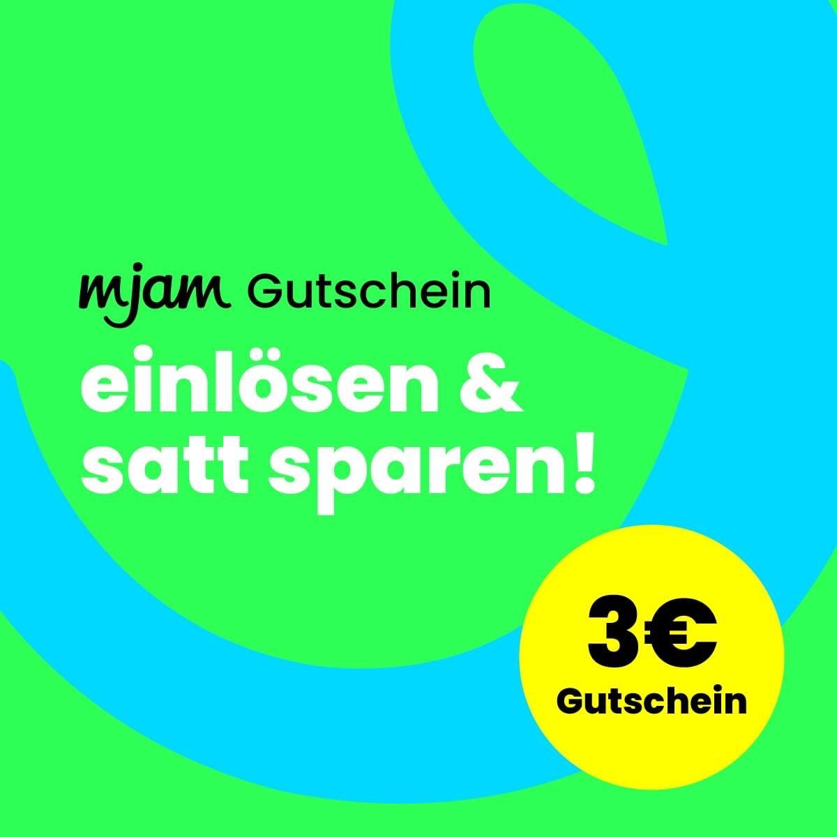 MJAM 3 € Gutschein