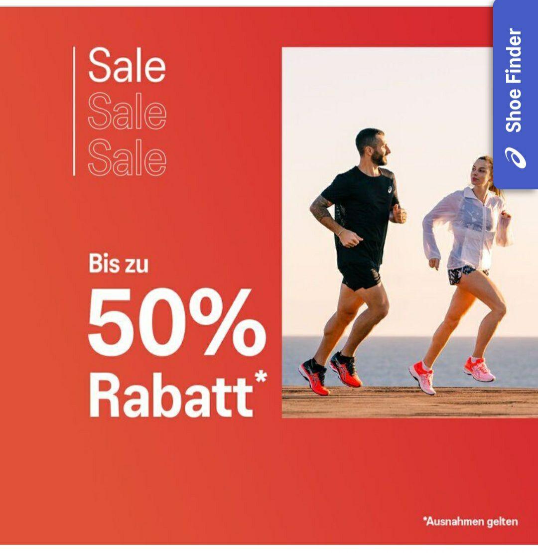 BIS zu -50% auf ausgewählte Sale Artikel im Asics Shop