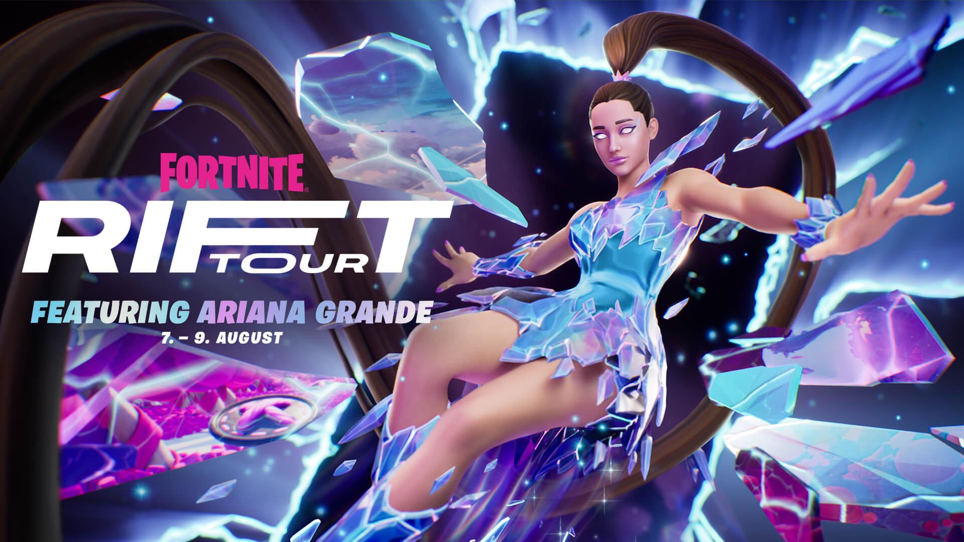 """""""Ariana Grande Konzert"""" gratis in Fortnite mit 5 Showterminen vom 7. bis 9. August (PC / Nintendo Switch / Android / PlayStation / XBOX)"""
