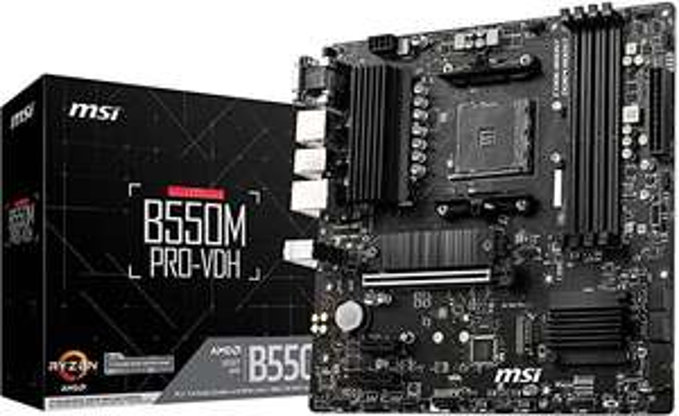 MSI B550M PRO-VDH (MATX Sockel AM4, AMD B550, 4 x DDR4, 1 x PCI Express 3.0 16x)